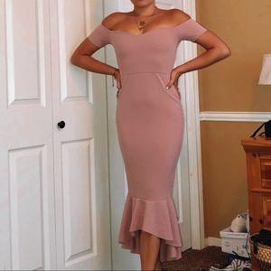 MISSGUIDED fishtail midi dress
